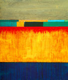 A modernist abstract painting. An abstract painting; horizontal bands of color Royalty Free Stock Images