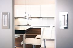 Modernist apartment Stock Images