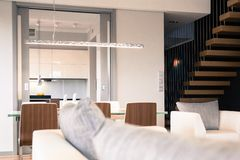 Modernist apartment Royalty Free Stock Image