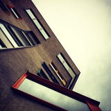 Modernist Architecture. Shot of modernist architecture in London Royalty Free Stock Photos