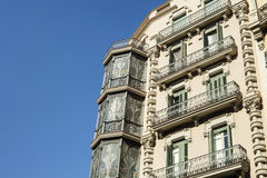 Modernist building in Barcelona, Catalonia, Spain Stock Images