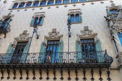 Modernist building from Barcelona, Spain. Modernist building facade from Barcelona, Spain Royalty Free Stock Photo