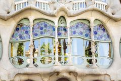 Modernist Casa Batllo facade, in Barcelona, Spain Stock Photo