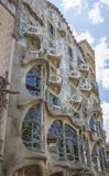 Modernist Casa Batllo facade, in Barcelona, Spain Royalty Free Stock Image
