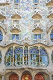 Modernist Casa Batllo facade, in Barcelona, Spain Stock Image