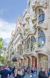 Modernist Casa Batllo facade, in Barcelona, Spain Stock Images