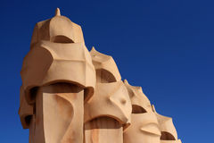 Modernist chimneys Stock Images