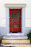 Modernist door of a house in Mets neighborhood, Athens, Greece Stock Photos