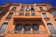 Modernist huis van Mediterranea in Melilla, Spanje royalty-vrije stock afbeeldingen