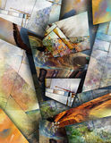Modernist inspired abstract. With raised shapes Stock Image