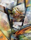 Modernist inspirerat abstrakt begrepp vektor illustrationer