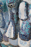 Modernist mosaic. With white and black blue pieces stock images