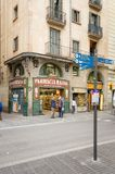 Modernist pharmacy in La Rambla street, Barcelona Royalty Free Stock Photo