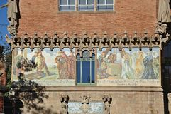 Modernist Site of Sant Pau. Hospital of Santa Creu and Sant Pau Barcelona stock photo