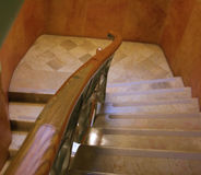 Modernist stair case. In Barcelona, with curvy ramp line Royalty Free Stock Image