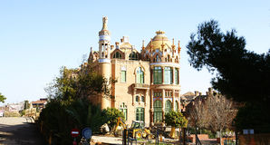 Modernist-style building of the Santa Creu and Sant Pau hospital complex Royalty Free Stock Photo