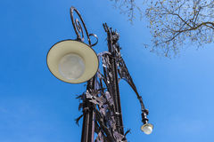 Modernist style streetlight, Barcelona Royalty Free Stock Photography