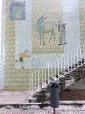 Modernist tiles. Infante Santo Avenue modernist tiles stock photos