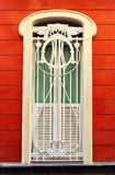 Modernist window in Cadiz, Andalusia, Spain Royalty Free Stock Photography