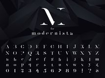Modernista Ultra moderner minimalistic Guss, Schriftbild lizenzfreie stockfotos