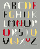 Modernistic alphabet. Modersnistic alphabet constructe of simple shapes Royalty Free Stock Photos