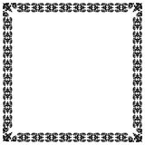 Modernistic black frame. Frame, floral ornament. eps10 Stock Photo