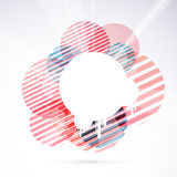 Modernistic circle bright retro design element Royalty Free Stock Image