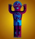 Modernistic vector illustration, geometric cubism style avatar i Royalty Free Stock Photos