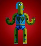 Modernistic vector illustration, geometric cubism style avatar i Stock Photography