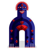 Modernistic vector illustration, geometric cubism style avatar i Stock Photos