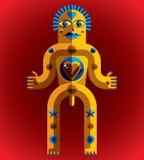 Modernistic vector illustration, geometric cubism style avatar i Stock Image