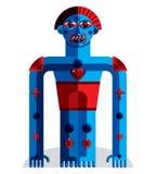 Modernistic vector illustration, geometric cubism style avatar  Royalty Free Stock Photo