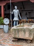 Modernistic Don Quixote statue at Puerto Lapice, La Mancha, Spain, Espana