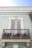 Modernistisk balkong Arkivfoto