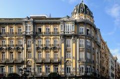 Modernistisk byggnad i Oviedo, Asturias Arkivfoton