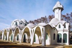Modernistiska byggande Masia Freixa i Terrassa, Spanien Arkivfoto