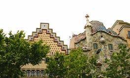 Modernistiska byggnadsCatalans, äppledisacordia Royaltyfria Bilder