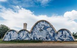 Modernistkyrka av Sao Francisco de Assis i Belo Horizonte, Brasilien royaltyfri fotografi