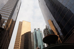 Modernity 1. Modern commercial/office blocks in Central, Hong Kong stock photography
