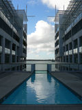 Modernity. Hotel pool in auckland Stock Images