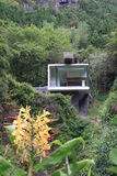 Modernity. Modern construction of the suport house for the cave of enxofre in graciosa island azores Stock Photo