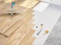Modernização de um apartamento rendição 3d Fotografia de Stock Royalty Free