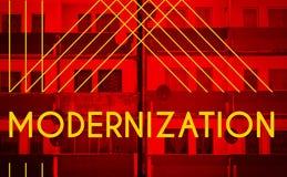 Modernización, cartel moderno del diseño de la arquitectura Foto de archivo libre de regalías
