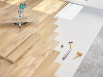 Modernization of an apartment. 3d rendering Royalty Free Stock Photography