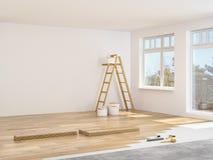 Modernization of an apartment. 3d rendering Stock Photo