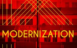 Modernization, Architecture design modern poster Royalty Free Stock Photo