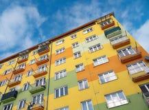 Modernized block of flats originally built in communism era in Ostrava. Czech Republic royalty free stock photos
