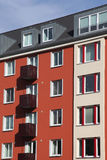 Modernized town house. Modernized colorful town house in Kiel, Germany Royalty Free Stock Photos