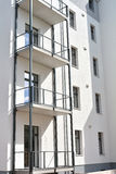 Modernized house. Recently modernized vacant house in downtown Magdeburg Stock Photos