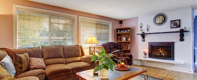 Modernized living room with lots of colors. Stock Images